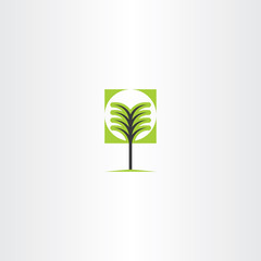 vector tree sign icon element
