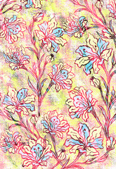 Sweet flowers art design.