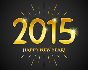 Happy New Year 2015 banner.  illustration for holiday