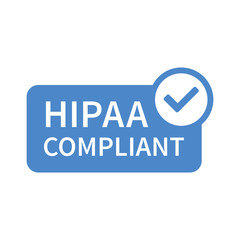 Health Insurance Portability and Accountability Act - HIPAA badge flat icon for apps and websites