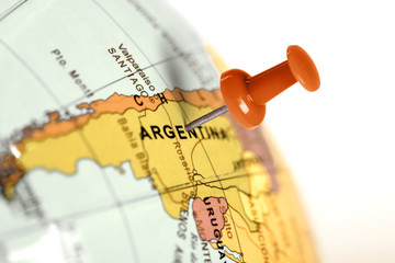 Location Argentina. Red pin on the map.