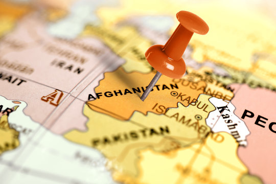 Location Afghanistan. Red pin on the map.