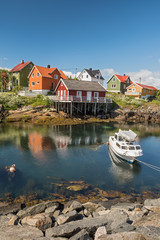Wall Mural - Fishing village Henningsvaer in Lofoten islands, Norway