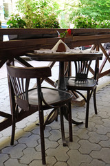 Cafe terrace outdoors