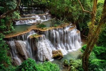 Waterfall in, Kanchanaburi, Thailand