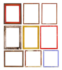 Set of vintage frames isolate, use for picture frame