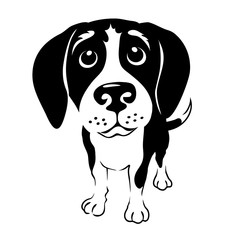 cartoon illustration of a beagle dog