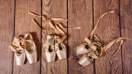 Evolution of ballet pointe.