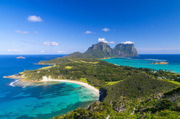 View over Lord Howe Island, Australia Wall mural