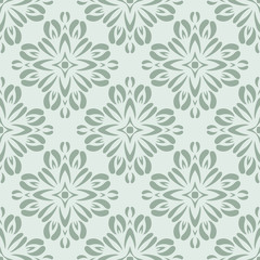 Seamless circle vintage flower pattern background