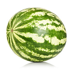 watermelon close-up isolated on a white background