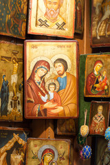 The variety of christians icons.