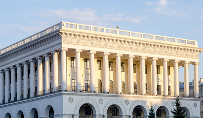 White theater with columns styled like White House in USA