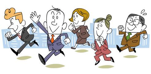 走るビジネスのチーム