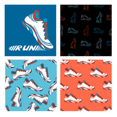 Running shoe designs.