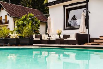Luxury pool lounge