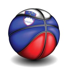 Slovenian basket ball, vector