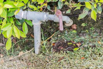 Water faucet left open