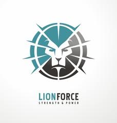 Lion head creative logo design template