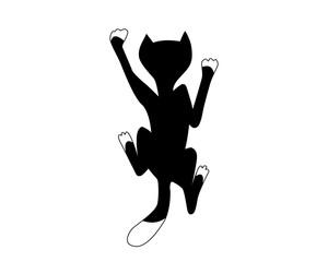 climbing black cat