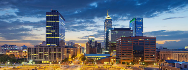 Indianapolis. Image of Indianapolis skyline at sunset.