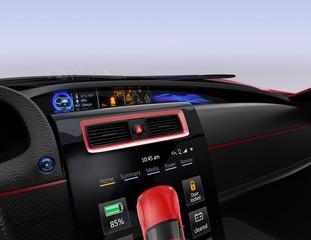 Center multi-information console design for intelligent electric car.