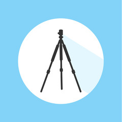 Camera Tripod Digital Technology Equipment Pro Silhouette Icon