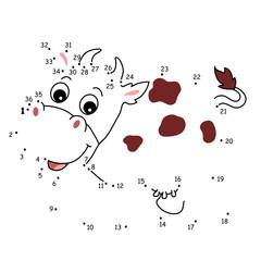 il gioco dei puntini, mucca