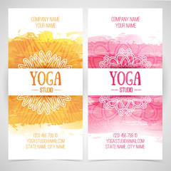 Set design template brochures, cards, invitations, flyers for a