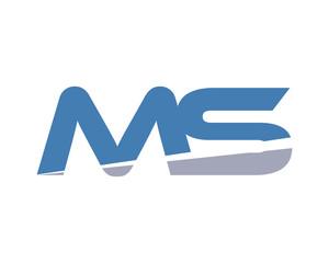 MS Letter Logo Modern