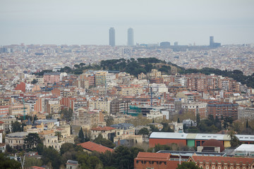 views of Barcelona from the top