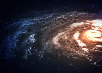 Wall Mural - Incredibly beautiful spiral galaxy somewhere in deep space