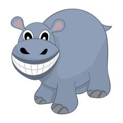Funny Cartoon Hippo