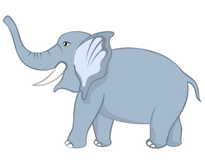 Funny Cartoon Elephant