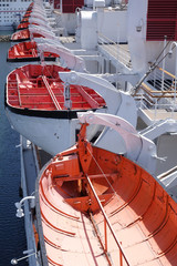 life boats on cruise liner ship