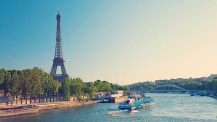 Recess Fitting Paris Paris skyline with Eiffel Tower and Seine River