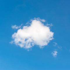 Closeup clouds on blue sky.