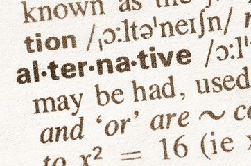 Dictionary definition of word alternative