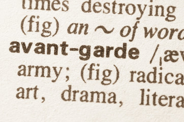 Dictionary definition of word avant garde