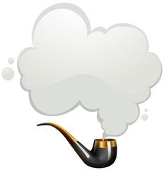 Smoking pipe with smoke