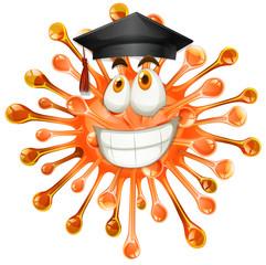 Freeform with graduation cap