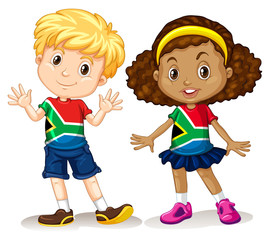 Boy and girl from South Africa