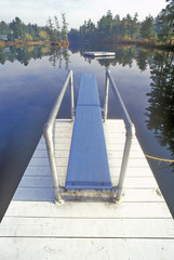 Diving board and pier at Purity Spring, NH