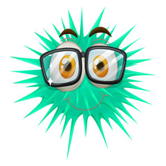 Thorny ball wearing glasses