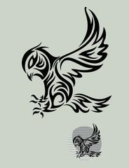 Owl Bird Tribal,art vector design