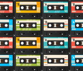 Cassette Tape Background. Vector