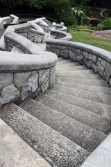 An old serpentine stone staircase, Maymont park, Richmond, Virginia