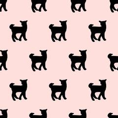 seamless cute dog pattern