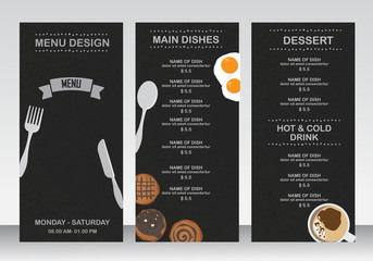restaurant menu, infographics background and elements. blackboard design. Can be used for  layout, banner, web design, brochure template. Vector illustration