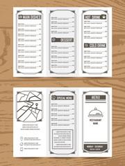 cafe menu a4